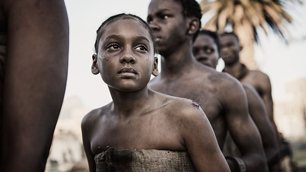 """Shailyn Pierre-Dixon as """"Young Aminata"""" in 'The Book of Negroes'. Photo credit: © 2014 CBC Media Centre."""