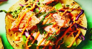 Turn Up The Heat With Spicy Salmon Tostadas
