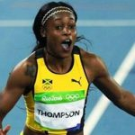 Jamaica's Elaine Thompson wins Olympic gold in both the women's 100 and 200 meter sprints. Photo credit: CMC.