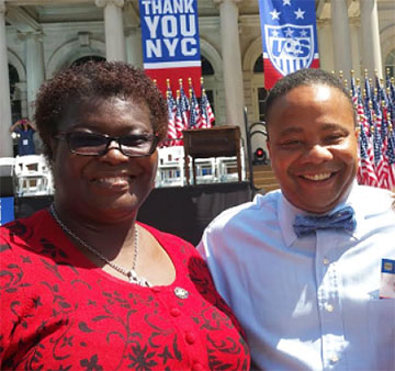 New York State Senators, Roxanne Persaud and Jesse Hamilton.