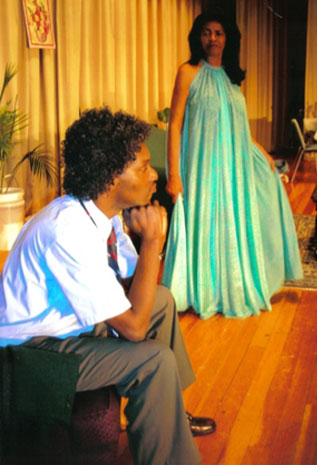 Barrington and Gloria Surage in a production.