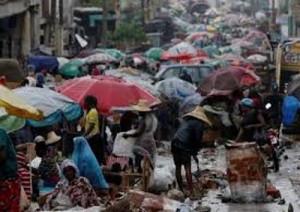 Haitians deal with Hurrican Matthews' effects.