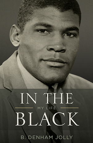"""In The Black: My Life"" cover art features a young B. Denham Jolly."