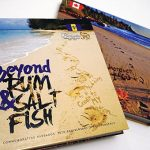 "The front and back covers of ""Beyond Rum & Salt Fish"". The beautiful souvenir book was designed by twin sisters, Lisa and Leslie Jones. Photo contributed."