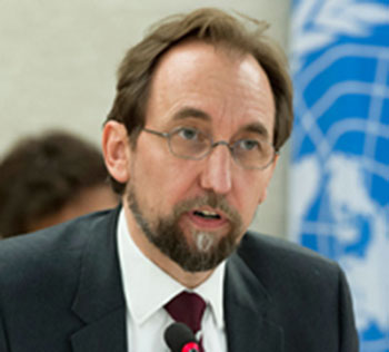 UN High Commissioner for Human Rights Zeid Ra'ad Al Hussein. Photo credit: UN/Jean-Marc Ferré.