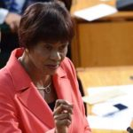 Portia Simpson Miller seen making her final contribution to the 2017/2018 budget debate as opposition leader, recently. Photo credit: CMC.