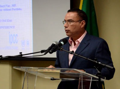 Minister without Portfolio in the Ministry of Economic Growth and Job Creation, Daryl Vaz.