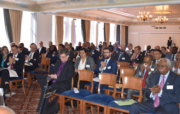 In the audience at the Investment Seminar on Guyana were business executives from infrastructure, port development, oil and gas, tourism and hospitality and shipping sectors, as well as some members of the diplomatic community. Photo credit: GINA.