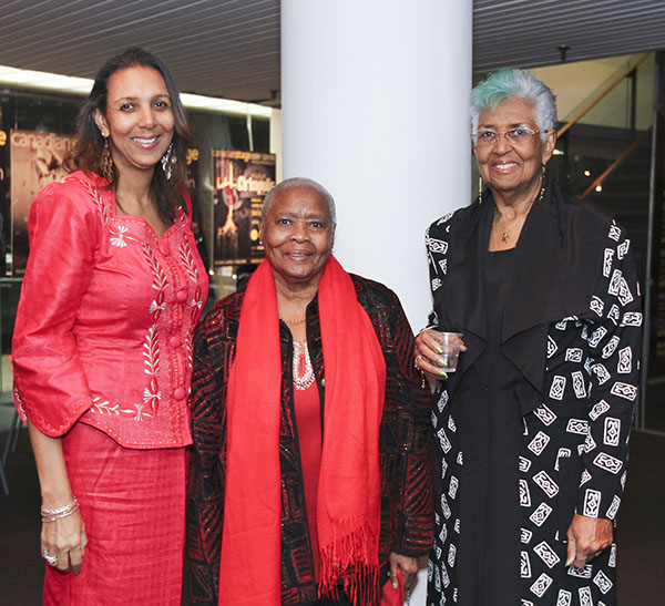 Clarke Walker, left, seen with her mother, Beverley Johnson, right, and a family friend, at the African Canadian Achievement Awards of Excellence (ACAA) gala, in February, where she received an award for excellence in business, for fighting for the rights of workers. Photo courtesy of the ACAA.