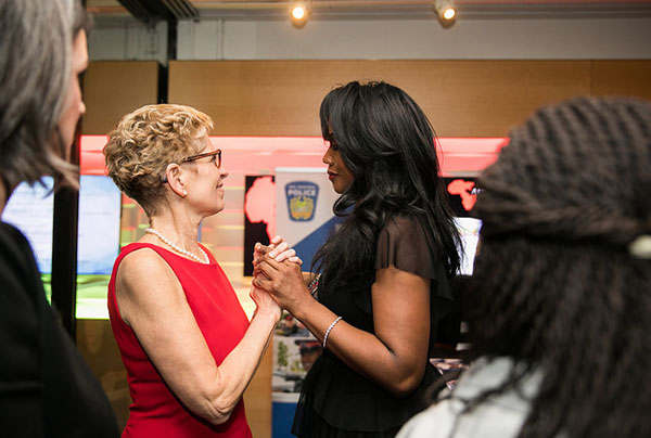 Premier Wynne and Gwyneth Chapman