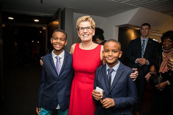 Premier Wynne and Sikaneta boys