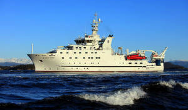 The new Dr. Fridtjof Nansen is one of the most advanced marine vessels sailing today. Photo credit: FAO.