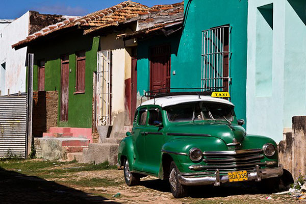 Cuba is famous for the abundance of antique cars visible on the streets.