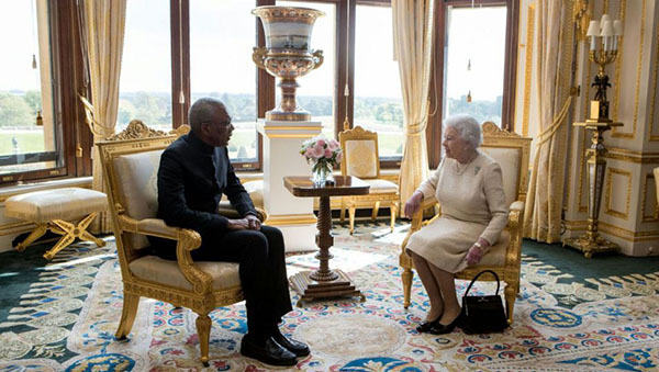 British Monarch Holds Private Meeting With Guyana's President