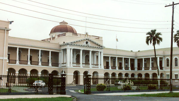 Security Boosted Around Guyana Parliament Building