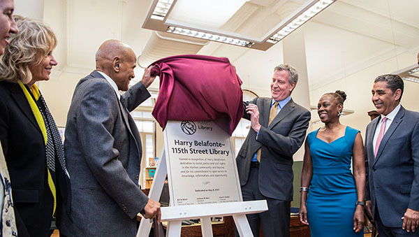 Harlem Library Renamed To Honour Singer And Social Activist, Harry Belafonte
