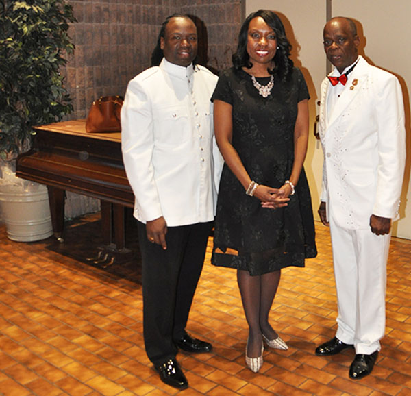 Mitzie hunter, MPP, is flanked by Leroy Charles, right, President of the Guyana Ex-police Association of America (GEPAOA), and John O'Dell, President of the GEPAC. Photo credit: Paul O'Dell.