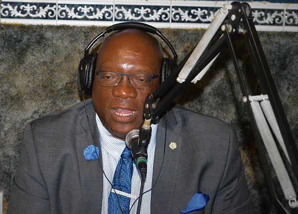 St. Kitts-Nevis Prime Minister, Dr. Timothy Harris, seen on Sugar City FM. Photo contributed.