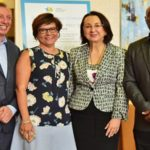 Patricia Affonso-Dass (second from left) with Frank Comito, Director General of the Caribbean Hotel and Tourism Association (left), CHTA President, Karolin Troubetzkoy, and Rudy Grant, CEO of the Barbados Hotel and Tourism Association.