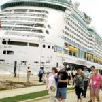 Cruise visitors in Jamaica