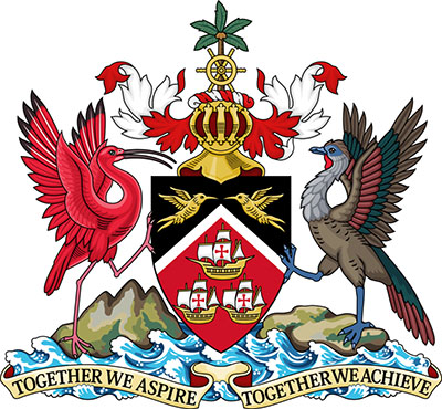 The Coat of Arms of Trinidad and Tobago.