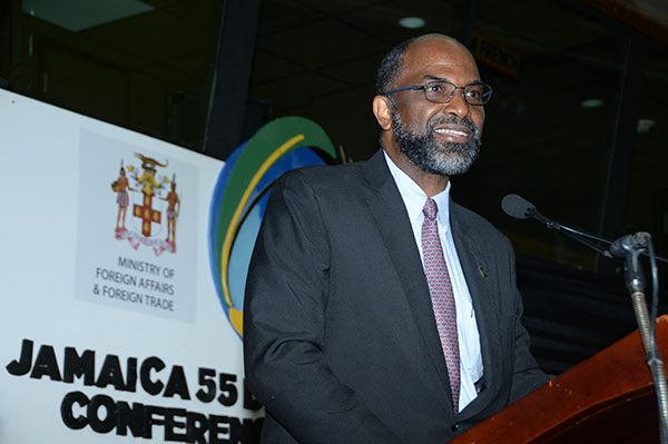 Earl Jarrett, Chief Executive Officer, The Jamaica National Group and Chairman of the Diaspora Foundation.