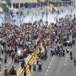 Street protest in Venezuela. (CMC file photo).