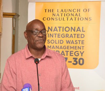 Gordon Gilkes, Head of the Sanitation Management Unit, at the Ministry of Communities.
