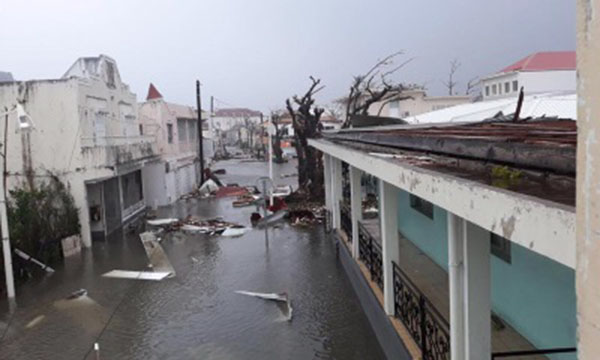 Several buildings have been destroyed and there's a total electricity blackout in St Barthélemy and St. Martin, report local authorities.