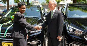 Korea Donates Three SUVs To Jamaican Government