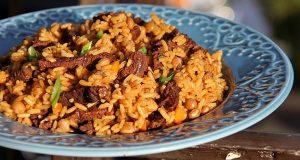 Classic Caribbean Beef Pelau