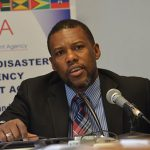 Ronald Jackson, Executive Director of the Caribbean Disaster Emergency Management Agency (CDEMA), was able to confirm severe damage to Marigot, on the northeastern side of Dominica. Photo credit: CARICOM.