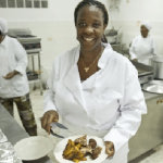 A chef and owner of a restaurant and catering company in Liberia. Photo credit: UN Photo/C. Herwig.