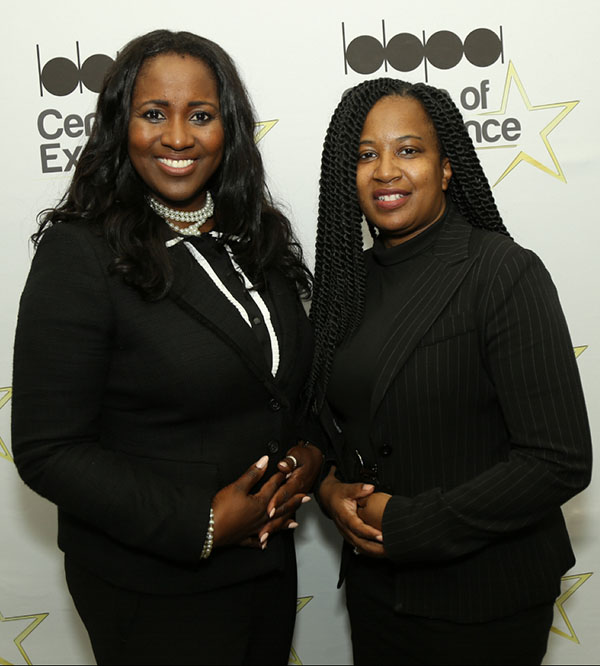 The BBPA's head honcho, Nadine Spencer (left) seen with Michelle Richards, the vice president, at the organisation's AGM, last Thursday. Photo by DSI Fun Photos.