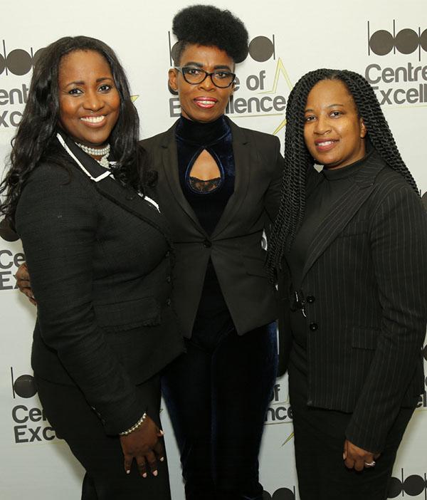 Newly elected BBPA president, Nadine Spencer (left) and vice-president, Michelle Richards (right), flank the organisation's immediate past president, Pauline Christian, who held the position of president for 10 years. Photo by DSI Fun Photos.