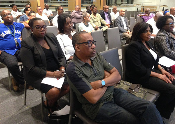 "A section of the Guyana Diaspora in Toronto that attended the ""consultative meeting"" on September 27. Photo by Sharmon Carrington."