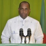 Dominica Prime Minister, Roosevelt Skerrit, at a recent daily briefing. Photo credit: CMC.