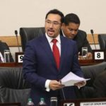 Minister in the Office of the Trinidad and Tobago Attorney General, Stuart Young, seen speaking in parliament, told a news conference, today, that the government would be starting legal action, soon, against former housing minister, Dr. Roodal Moonilal, over allegations of bid-rigging.