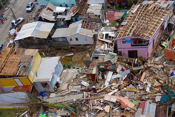 Destruction left behind in the aftermath of Hurricane Maria on the island of Dominica. Photo: Ben Parker/IRIN.