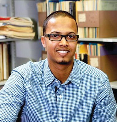 Jaafar Dirie, 30, is pursuing his doctorate at the University of Toronto.  His doctoral study in the Department of Geography is about the Tahriib movement -– the migration of Somali youth from Somalia to Europe. Photo contributed.