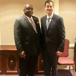 St. Kitts-Nevis Prime Minister, Dr. Timothy Harris, one of the speakers at the Toronto Global Forum, yesterday, met with Nicholas Rémillard, the President and Chief Executive Officer of the International Economic Forum of the Americas (IEFA), the umbrella organisation that convenes the Forum.