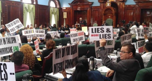 Guyana Opposition Disrupts Parliament During President's Address