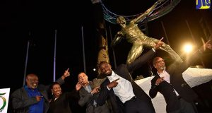 Usain Bolt Statute Unveiled At Jamaica's National Stadium