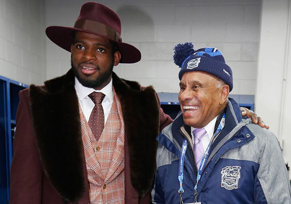 Willie O'Ree and NFL defenceman, P.K. Subban. Photo credit: nhl.com.
