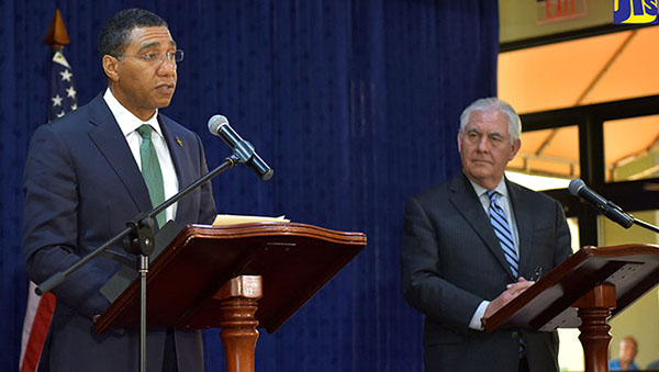 "Jamaica Prime Minister Holds ""Frank Candid Dialogue"" With US Secretary Of State"