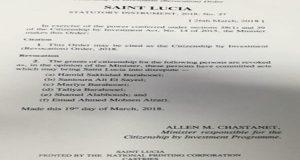 St. Lucia Revokes Citizenship Of Six People Under Controversial CBI Program