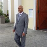 Former CLICO Chairman, Leroy Parris, seen leaving High Court after ruling.