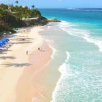 "Barbados' Crane Beach, originally a harbour, is considered by many to be one of the island's most beautiful beaches. In fact, Lifestyles of the Rich and Famous rated it as ""one of the ten best beaches in the world""."