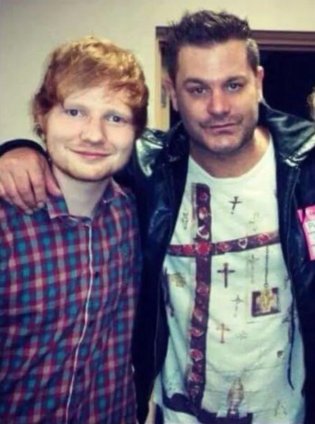 Ed and Jethro Sheeran.