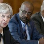 British Prime Minister Theresa May in talks with Caribbean leaders.